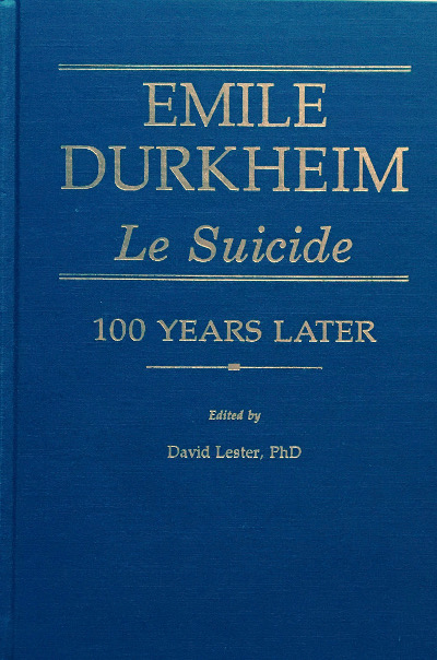 emile durkheim thesis on suicide In his 1897 work, suicide, durkheim conducted an empirical analysis of sociological methods on a concrete social problem he asserted that suicide was a social phenomenon, jointly determined by the amount of two social factors social integration and moral regulation.