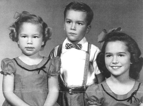 Photograph of a young Randall Woodfield and his sisters